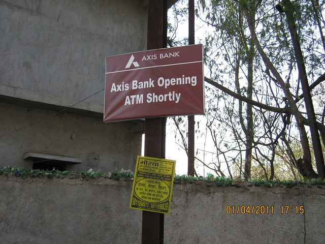 Oh! Axix Bank to open ATM at Supreme Industries, near Dajikaka Gadgil Developers' Anant Srishti at Kanhe, near Talegaon, Pune