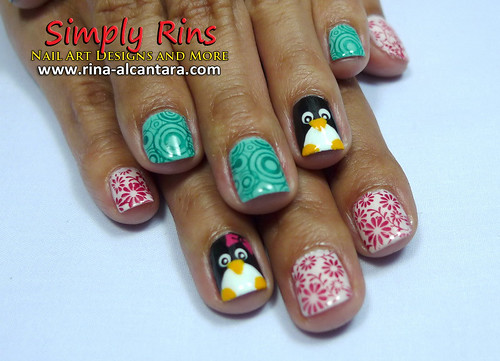 Nail Art Penguin 06