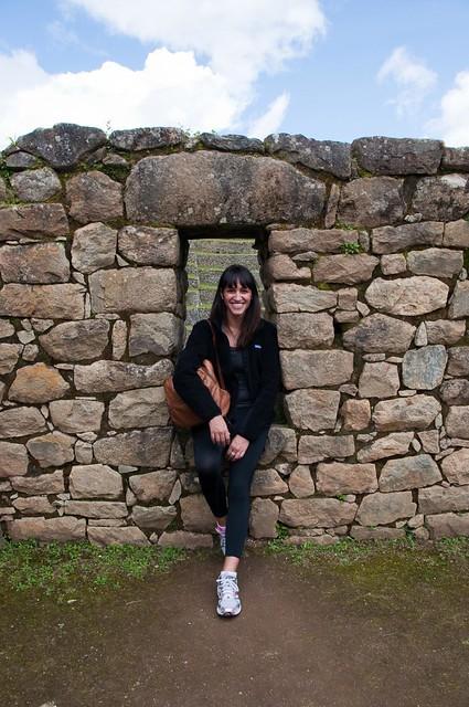 Flavia at Machu Picchu