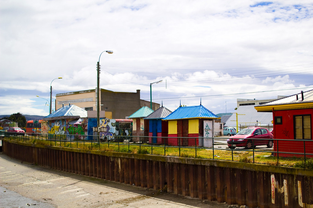 Streets and buildings of Punta Arenas