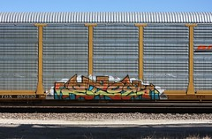 Stoe (quiet-silence) Tags: graffiti graff freight fr8 train railroad railcar art stoe stoer cdc autorack bnsf ttgx952530
