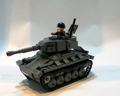 M24 Chaffee Light Tank. ([DustyBricks]) Tags: tank lego wwii ardennes stuart m3 m5 1944 chaffee successor lighttank