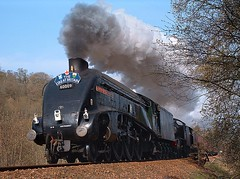 Dunkeld. (Kingfisher 24) Tags: greatbritain trees scotland pacific smoke perthshire dunkeld a4 k4 260 steamlocomotives