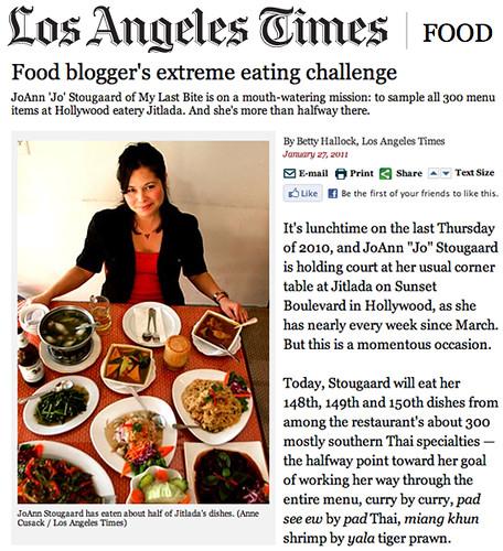 Thank You L.A. Times!