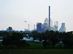 Cement Factory (Kumaravel) Tags: travel sky india green bird tower industry canon landscape factory cementfactory kumaravel nh7 lushgreen indianindustry 95is canonixus95is canondigitalixus95is