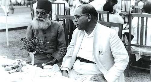 Hasrat Mohani with Dr Ambedkar