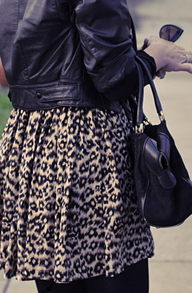 vintage leather jacket, leopard print dress, vintage gucci bag, tom ford cat eye sunglasses, DSC_0040