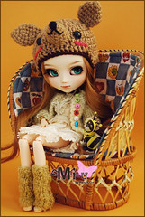 Mi-u - Pullip Custom (-Poison Girl-) Tags: new brown chihuahua girl hair eyes waves eyelashes turquoise more planning wig groove pullip poison pullips jun poisongirl miu eyechips rewigged craziia obitsubody pullipcustom rechipped sbhm whitepaledolldolls