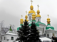 Part of an ensemble of the Kiev-Pechersk Lavra (Osdu) Tags: travel churches cathedrals ukraine domes kiev kiew  kievpechersklavra    kif