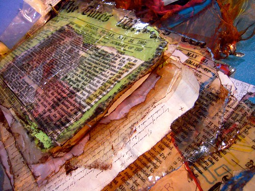 ICE resin art journal pages