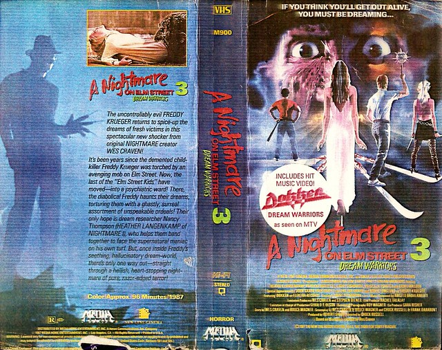 A Nightmare On Elm Street 3, Dream Warriors (VHS Box Art)