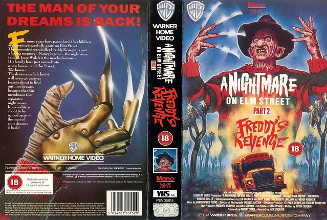 A Nightmare On Elm Street 2, Freddy's Revenge (VHS Box Art)