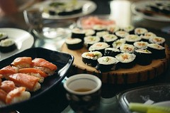 (sylvanwye) Tags: party by sushi boards joel nora 2010