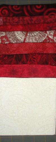 Red & White fabrics