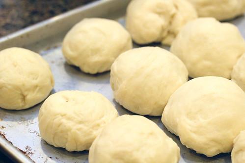 white sandwich rolls