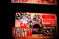 Surer Rip (36th Chamber) Tags: graffiti sticker glare rip over oc consume broker surer