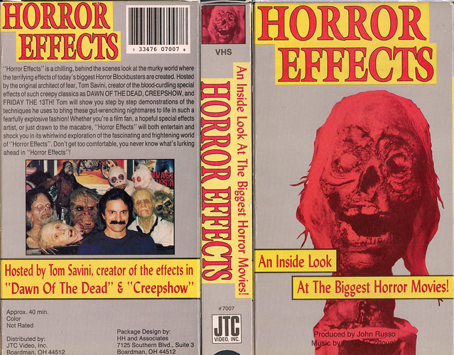 Horror Effects Hosted By Tom Savini (VHS Box Art)