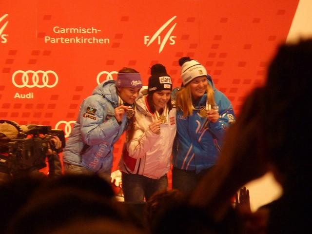 Ski-WM 2011, Siegerehrung Super-Kombi