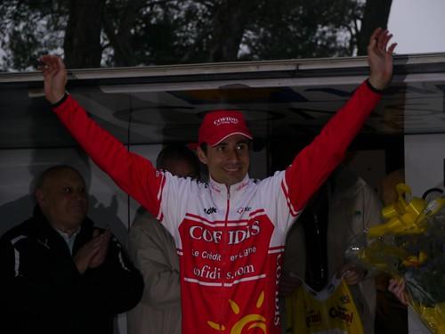 David Moncoutié - Arrivée Tour Med au Faron - Toulon  - février 2011 - P1000545