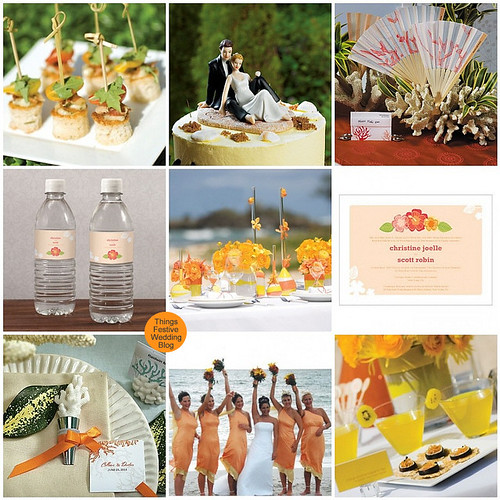 beach wedding color palette Check out this bright and lovely color palette