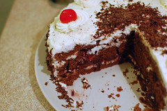Inside the Cake (su-lin) Tags: food cake cherry dessert blackforest schwartzwalder kirschtorte