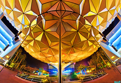 Reflections of (Spaceship) Earth (Tom.Bricker) Tags: vacation architecture america photoshop orlando epcot nikon raw florida disney mickey fisheye disneyworld mickeymouse nikkor wdw dslr waltdisneyworld figment epcotcenter themepark waltdisney worldshowcase futureworld wdi lakebuenavista imagineering journeyintoimagination imageworks disneyresort nikondslr disneypictures dreamfinder upsidedownwaterfall waltdisneyimagineering disneyphotos wedenterprises disneyphotography wdwfigment tombricker disneyworldpictures waltdisneyworldpictures nikond7000 magiceyetheater photoshopcs5 d7000nikon worldshowcasegeosphere disneyfisheye