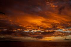 Explosion... (Pablin79) Tags: ocean trip sunset sea sky sun beach nature colors yellow fiji clouds contrast digital canon palms relax island eos golden reflex holidays paradise peace silhouettes tranquility resort 5d tones vacations 28135mm 2010 markii nadi canonef28135mmf3556isusm canoneos5dmarkii sonaisaliislandresort 5dmkii pabloreinsch pabloreinschphotography pablin79
