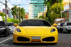 Ferrari F430 Giallo (Ed Cunha Ph) Tags: car brasil italian european ferrari exotic giallo curitiba coche carro luxury supercar v8 yellowferrari 430 ferrarif430 450d sigma1770mmf2845dcmacro worldcars canonrebelxsi edcunhaph