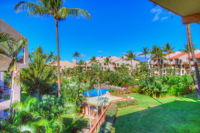 Garden view and pool from the lanai by KamSands5-301i