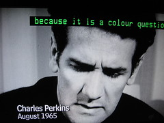 CHARLES PERKINS (RubyGoes) Tags: blackandwhite television australian australia charles perkins aboriginal activist indigenous whiteaustraliapolicy august1965 colomboplan becauseitisacolourquestion