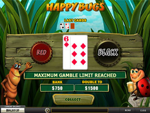 free Happy Bugs slot gamble feature