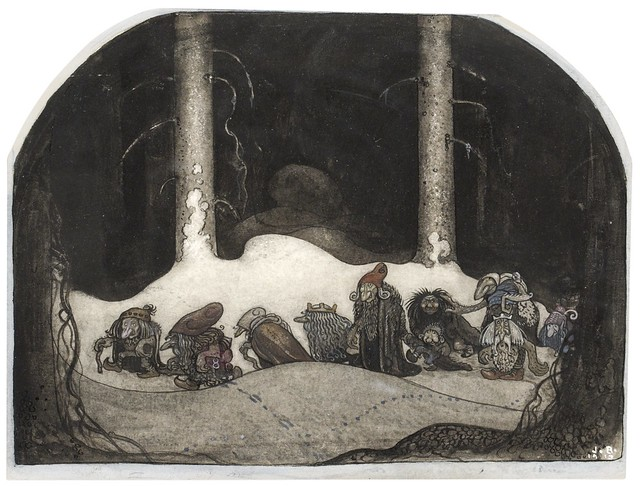 John Bauer - In the Christmas Night, 1913