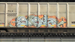SIGH (BLACK VOMIT) Tags: train graffiti ol south dirty richmond dos va sigh coal freight