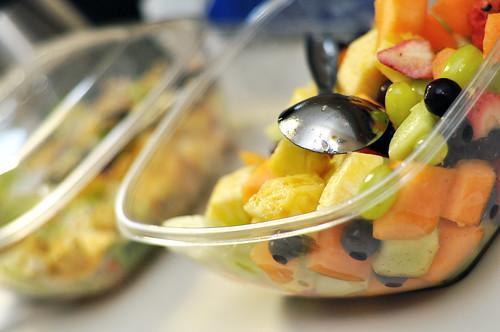 Fruit Salad and Lettuce Salad