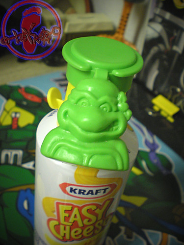 "NABISCO - ""EASY CHEESE"" :: 'TEENAGE MUTANT NINJA TURTLES' CRACKER TOPPER  i (( 1991 ))"