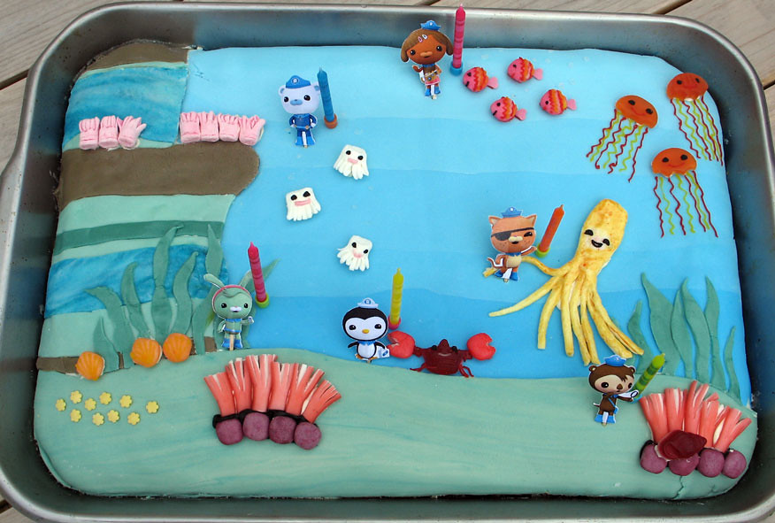 Octonauts Cake Double The Garlic Tags Birthday Party Marine Decorating Captain Tweak