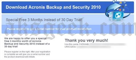 acronic backup and security-license