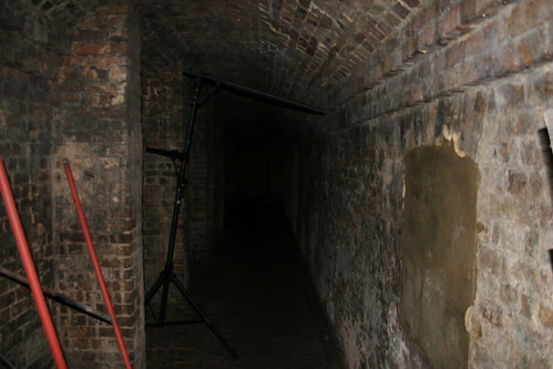 The long crypt tunnel under the front steps