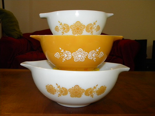 Butterfly Gold Cinderella Mixing Bowls - *One For Trade*