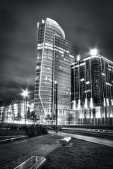 Tour Oxygne - Lyon (HDR) (M. Buono Photography) Tags: bw favorite white black france tower mike monochrome photography high noir tour dynamic lyon district nb block mickael range blanc hdr distribution buono quartier tonale partdieu oxygne mickal tonemapping