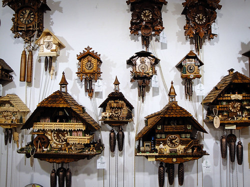 cuckoo clocks.