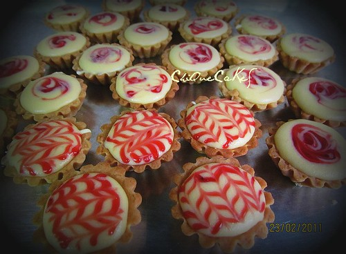 strawberry cheese tartlets