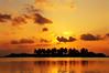 Golden orange over the island