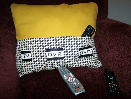Finished Remote Control Pillow