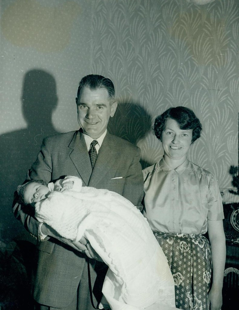 Douglas H, Jenny and Valerie McCreath 1961