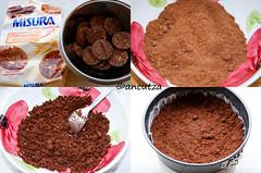 Impasto base di biscotti al cioccolato