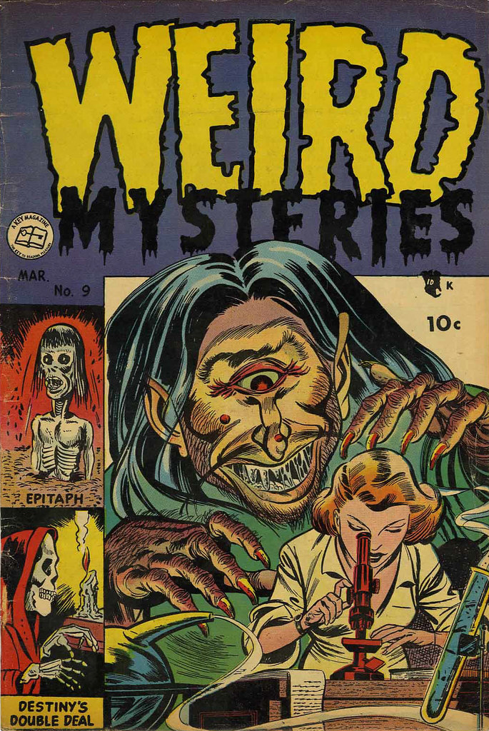 Weird Mysteries #9 Bernard Bailey Cover (Gillmor, 1954)