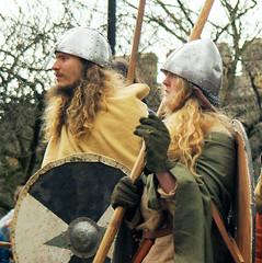 Viking Warriors (sfryers) Tags: york city festival army march fight war yorkshire battle medieval sword shield warriors procession pike viking smc reenactment norsemen jorvik helm 3570 13545 pentaxf olafii