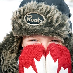 Roots (ICT_photo) Tags: red canada leaf maple eyes child roots canadian olympics mittens ictphoto gettyimagescanada ianthomasguelphontario