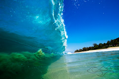 Implode ( KristoforG) Tags: ocean water photography hawaii sand aqua pacific tube wave sans gellert kristofor kristoforgcom